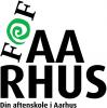 FOF aarhus_CMYK_Sort-grøn_skævt logo